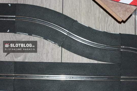 Carrera Pitlane Umbau Kurve 1