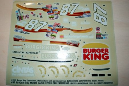NASCAR Ford Thunderbird McDonald's #94