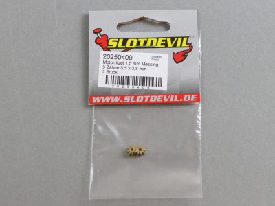 20250409 SlotDevil Slotcar Motorritzel Messing 9 Zähne 1,5 mm