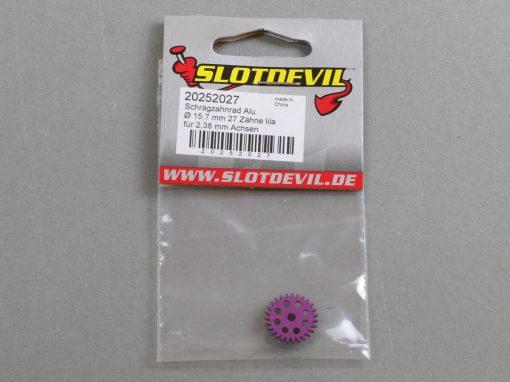 20252027 SlotDevil Schrägzahnrad 27 Zähne für 2,38 mm 15,7 mm Achsen lila