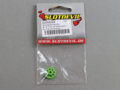 20252029 SlotDevil Schrägzahnrad 29 Zähne für 2,38 mm 15,7 mm Achsen grün