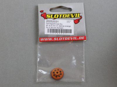 20252031 SlotDevil Schrägzahnrad 31 Zähne für 2,38 mm 16,9 mm Achsen orange
