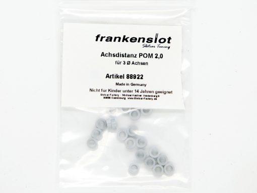 Achsdistanz Frankenslot POM 2,0 mm schwarz (25 Stück) 88922