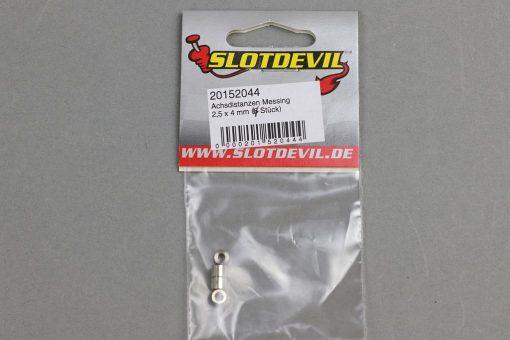 Achsdistanzen 2,5 x 4 mm für 2 bis 2,5 mm Slotcar Achsen 20152044 SlotDevil