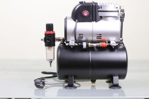 Airbrush Kompressor mit 3 Liter Druckbehälter und Ein-Aus-Dauer Schalter