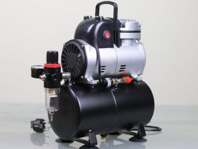 Airbrush Kompressor mit 3 Liter Druckbehälter und Ein-Aus-Dauer Schalter Hauptbild