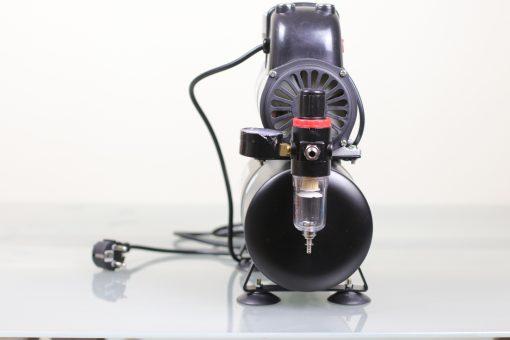Airbrush Kompressor mit 3 Liter Druckbehälter und Ein-Aus-Dauer Schalter Manometer
