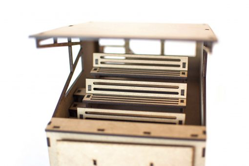 Box mit Tribüne PSR0203 Sitzbank