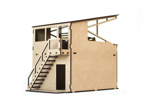 Box mit Tribüne PSR0203 Treppe