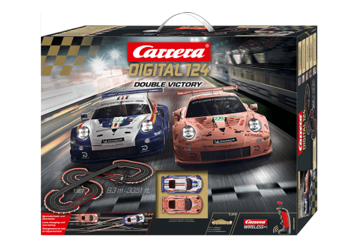 Carrera Digital 124 Double Victory 20023628 Grundpackung
