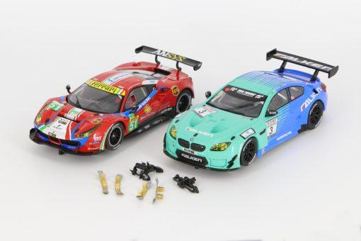 Carrera Digital 132 Bundle Ferrari 488 30848 und BMW M6 GT3 30844