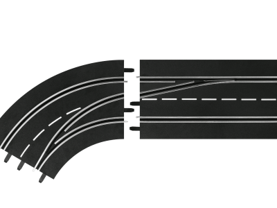Carrera Spurwechselkurve links, außen nach innen 20030363