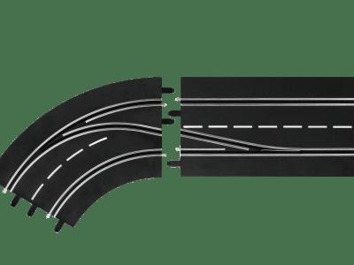 Carrera Spurwechselkurve links- innen nach außen 20030362