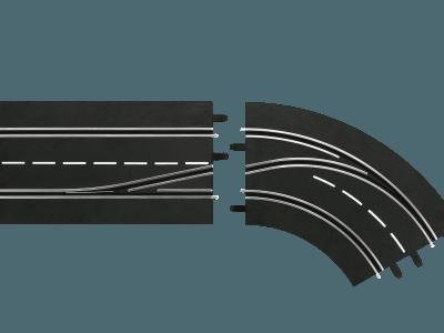 Carrera Spurwechselkurve rechts, innen nach außen 20030364