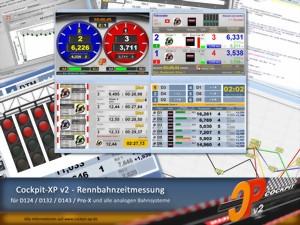 Cockpit-XP Software zur Zeiterfassung auf der Autorennbahn