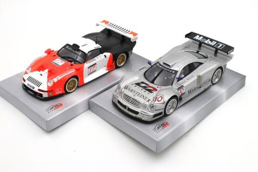 Das Revoslot GT1 Bundle Mercedes CLK und Porsche 911 GT1