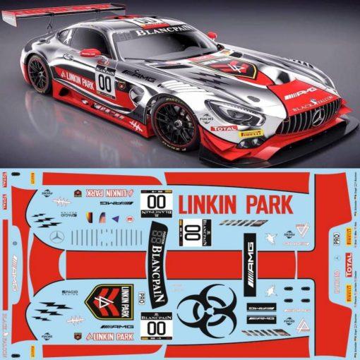 Decals AMG GT3 BF LINKIN PARK im Maßstab 124