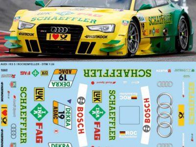Decals Audi A5 RS Rockenfeller DTM 2012 Maßstab 1-24 A501-24