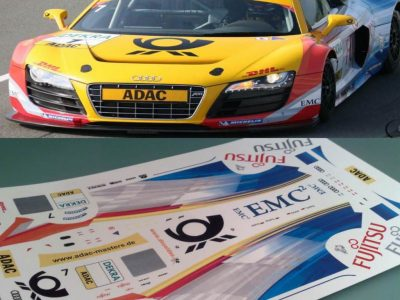 Decals Audi R8 LMS ABT 2009 Post Maßstab 1-24 R801-24