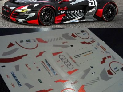 Decals Audi R8 LMS APR Black Maßstab 1-24 R804-24