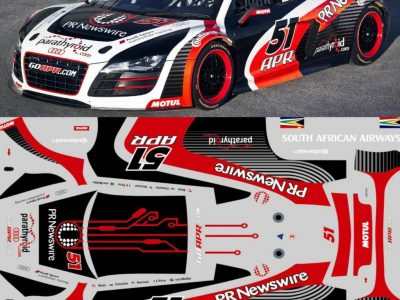 Decals Audi R8 LMS Go APR Maßstab 1-24 R803-24