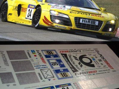 Decals Audi R8 LMS e-Postbrief Maßstab 1-24 R812-24