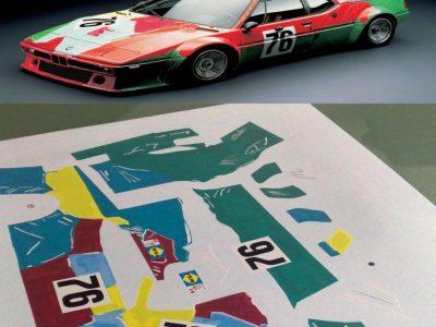 Decals BMW M1 Andy Warhol im Maßstab 124