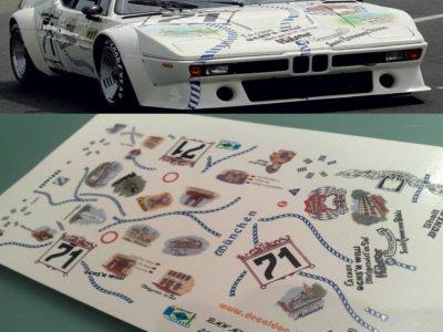 Decals BMW M1 München im Maßstab 124