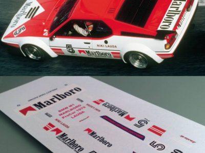 Decals BMW M1 Marlboro im Maßstab 124 Lauda
