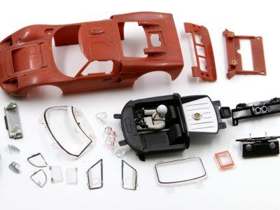 Entlackte Karosserie Ford GT40 MkII Carrera Digital 124 - Whitebody Rohkarosserie