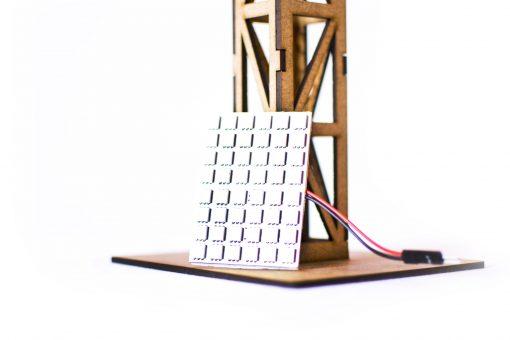 Flutlichtmast mit LED Panel einfach PSR0505 LED