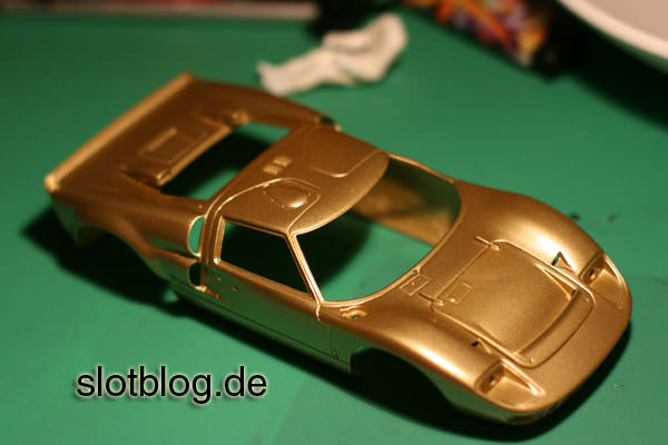 Slotcar Eigenbau Ford GT 40 nach DSC Reglement