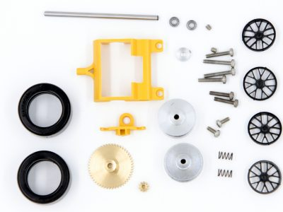 Frankenslot Komplettset für die Carrera Digital 124 Hinterachse mit Messingachszahnrad und Revolution Motorträger 88903