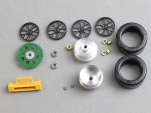 Frankenslot Tuning Hinterachse 88646K für Carrera Digital 124 GT und DTM Modelle Kunststoffzahnrad