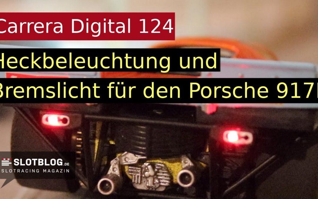 Heckbeleuchtung und Bremslicht für den Carrera Digital 124 Porsche 917K