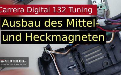 Magnete aus einem Carrera Digital 132 Auto entfernen