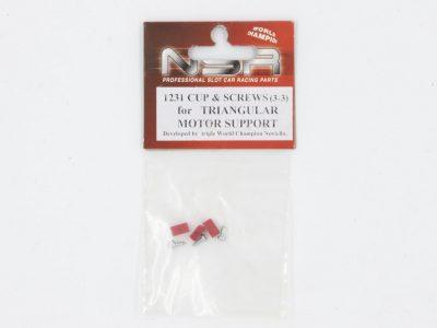 NSR Plastik Cups + Schrauben für Triangular Motor Mount #1231
