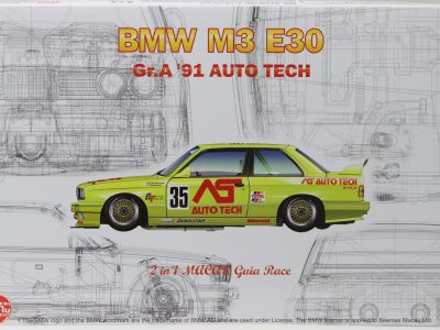 NUNU BMW M3 E30 Macau 1991 No. 18 & No. 35 in 124