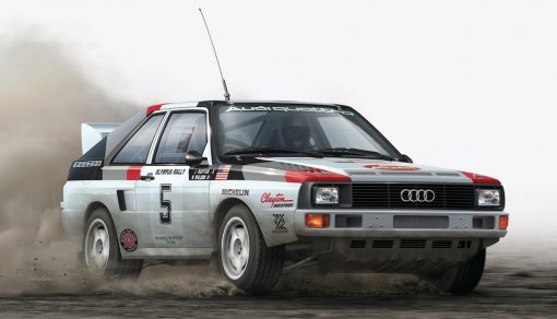 NUNU Beemax Audi S1 Olympus Rallye 1986 No. 5 in 1:24