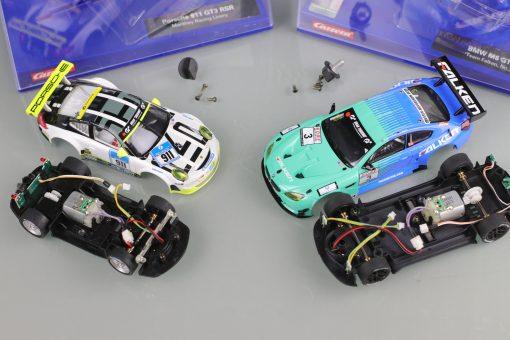 Porsche 911 GT3 RSR Manthey Racing Livery 30780 und BMW M6 GT3 Team Falken 30844 (ohne Decoder) Detail