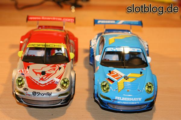 Bilder von Carrera Porsche 997 GT3 RSR Team Felbermayr und Flyinig Lizard
