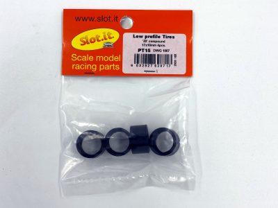 Reifen Z0 compound ow profile Tires 17 x 10 mm (4x) - Slot.it PT15