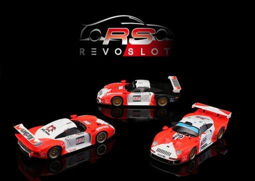 RevoSlot Triple-Pack Porsche GT1 Marlboro Special Edition RS0092 seitlich