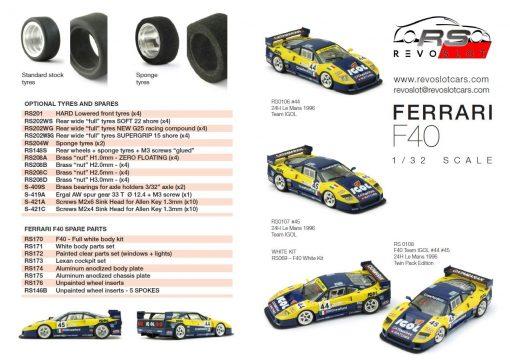 Revoslot Ferrari F40 Ersatzteile