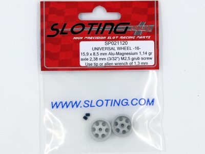 SP021120 Sloting Plus Slotcar Felge 15,9 x 8,5 mm UNIVERSAL