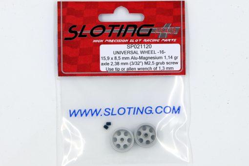 SP021120 Sloting Plus Slotcar Felge 15,9 x 8,5 mm UNIVERSAL