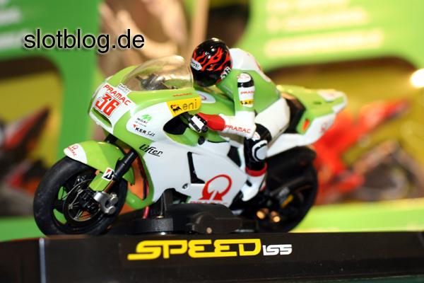 Bilder von SPEED ISS Slot-Motorrädern auf der Spielwarenmesse 2011