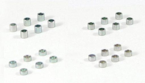 SRP Achsdistanzen Sortiment Set B für Slotcar Achsen mit 2,38 mm Durchmesser ohne Verpackung