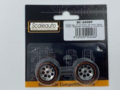 Scaleauto ProComp 3 – Moosgummi Komplettrad 25,5 x 11 mm SC-2409P