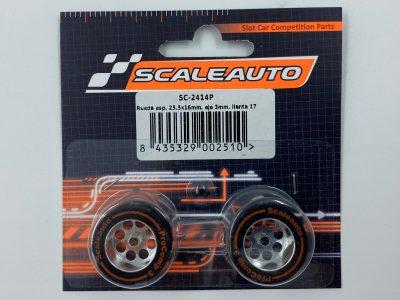 Scaleauto ProComp 3 – Moosgummi Komplettrad 25,5 x 16 mm SC-2414P